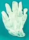 A latex glove closeup of white Stock Photos