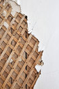 Lath background plaster close up Royalty Free Stock Photography