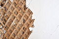 Lath background plaster close up Stock Image