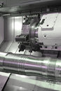 Lathe cnc milling photo of a Royalty Free Stock Image