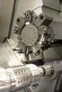 Lathe cnc milling photo of Royalty Free Stock Photo