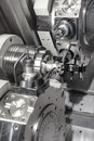 Lathe cnc milling photo of an industrial Stock Photos