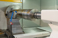 Lathe cnc milling photo of an industrial Royalty Free Stock Images