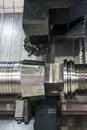 Lathe cnc milling photo of an industrial Stock Images