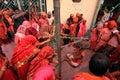 Lathmar Holi celebration Royalty Free Stock Photo