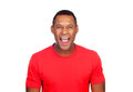 Latin American casual man screaming Royalty Free Stock Photo