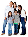 Latin american family Stock Image