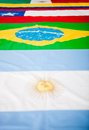 Latin American flags Royalty Free Stock Images