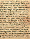 Latin Calligraphy (from Virgil's Aeneid) Stock Photos
