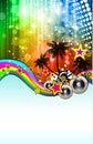 Latin Disco Event Flyer Royalty Free Stock Photo