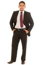 Latin guy in a suit with red tie Royalty Free Stock Photo