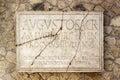 Latin inscription on Herculaneum marble Royalty Free Stock Photo
