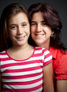 Latin mother and her daughter Royalty Free Stock Photography