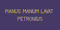 Latin phrase by Petronius, 3d render