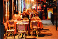 Latin quarter of paris by night famed for its nightlife has about restaurants Stock Photography