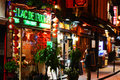 Latin quarter of paris by night famed for its nightlife has about restaurants Stock Photo