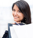 Latin woman shopping Royalty Free Stock Photos
