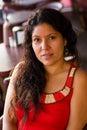 Latina woman in bar Royalty Free Stock Images