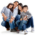 Latinamerican family Royalty Free Stock Photos