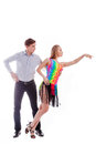 Latino dancers in action Royalty Free Stock Photo