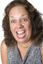 Latino woman yelling Royalty Free Stock Photo