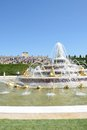 Latona  fountain at Versailles Palace with crowd in background in portrait aspect Royalty Free Stock Photo