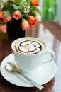Latte art coffee Photos stock