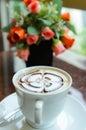 Latte art coffee Photo libre de droits