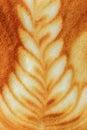 Latte art coffee Stockbild