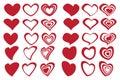 Latte Art Inspired Fancy Heart Shape Design Icon Set