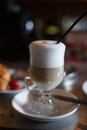 Latte coffee drink Royalty Free Stock Images