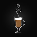 Latte logo. Coffee cup design background