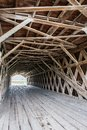 The lattice infrastructure of the iconic Hogback Covered Bridge spanning the North River, Winterset, Madison County, Iowa Royalty Free Stock Photo