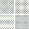 Lattice pattern set Royalty Free Stock Photo