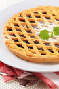 Lattice topped cake Royalty Free Stock Image