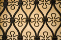 Lattice wrought iron with ornamental motives a full frame take Royalty Free Stock Images