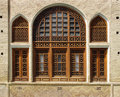 Latticed windows Stock Photo