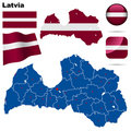Latvia set. Stock Photo