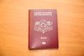 Latvian citizen's passport Royalty Free Stock Photo