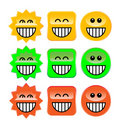 Laugh symbols Stock Photography