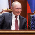 A Laugh of Vladimir Putin Royalty Free Stock Photo