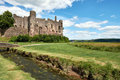 Laugharne castle, wales, pic taked in a sunny day Royalty Free Stock Photo