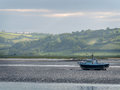 Laugharne Taf Estuary Wales Royalty Free Stock Photo
