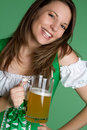 Laughing Beer Girl Royalty Free Stock Image