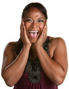 Laughing Black Woman Stock Images