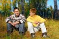 Laughing boys Royalty Free Stock Photo