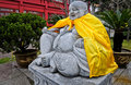 Laughing buddha budai statue in qibao temple near qibao ancient town in minhang district shanghai china Stock Photography