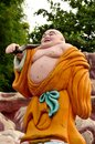 Laughing Buddhist monk on journey Stock Photos