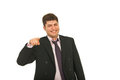 Laughing business man pointing to you Royalty Free Stock Photo