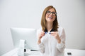 Laughing businesswoman Royalty Free Stock Photo